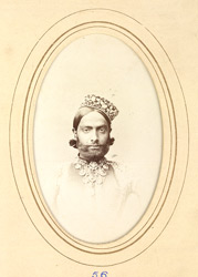 ALWAR: Sheodan Singh. Raja of Alwar (1845-1874).